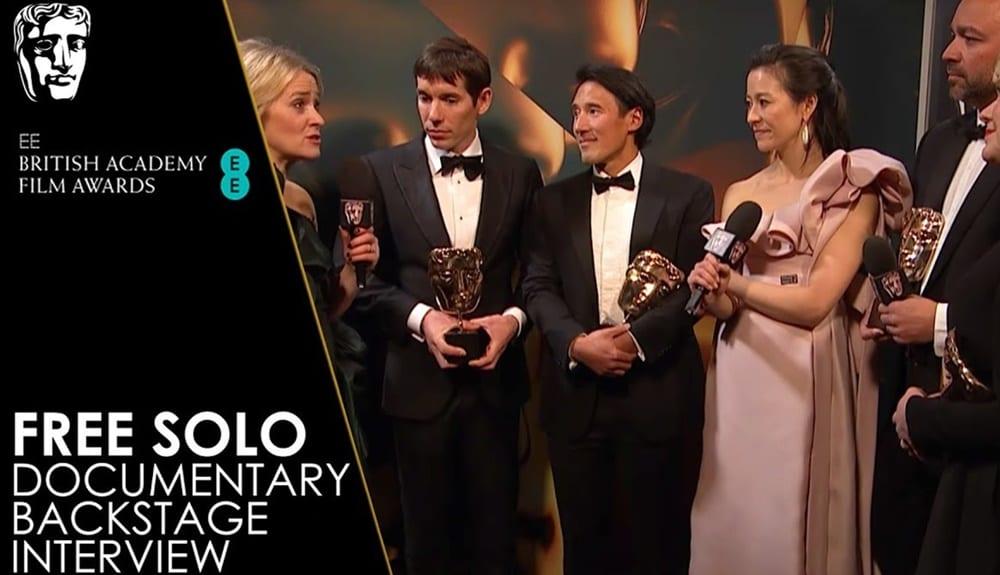 National Geographic Belgeseli Free Solo'ya BAFTA Ödülü